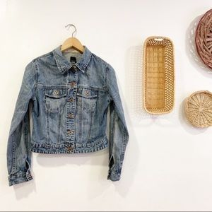 Vintage 90s Gap Cropped Denim Jacket Jeans